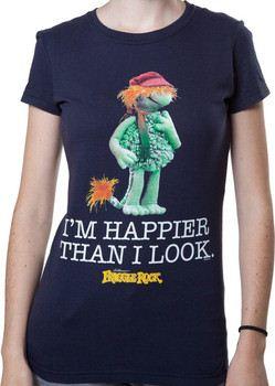 Ladies Happier Than I Look Boober Shirt