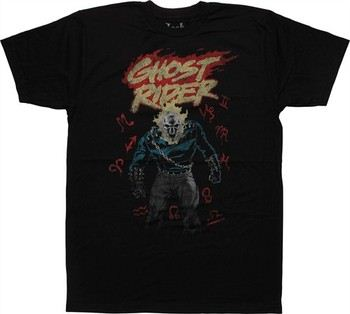 Marvel Comics Ghost Rider Zodiac T-Shirt Sheer
