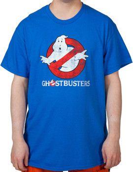 Royal Distressed Ghostbusters Logo Shirt