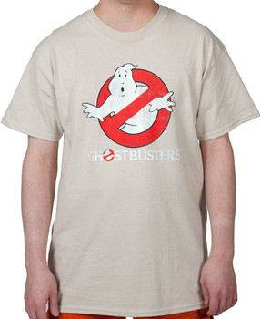 Tan Distressed Ghostbusters Logo Shirt