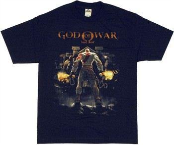 God of War Kratos Olympus Gates T-Shirt