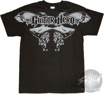 Guitar Hero Crossed Guitars Crossed T-Shirt