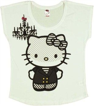 Hello Kitty Chandelier Veil Ladies Tee by MIGHTY FINE