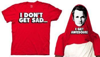 How I Met Your Mother I Don't Get Sad I Get Awesome Adult Flip Red T-shirt