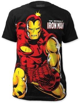 Iron Man Invincible Big Print Men's Subway T-Shirt