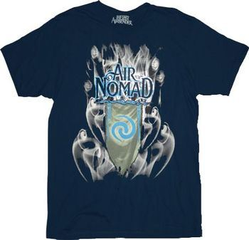 The Last Airbender Air Nomad Smoke Navy Adult T-Shirt