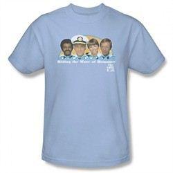 The Love Boat Shirt Wave Of Romance Light Blue T-Shirt