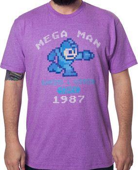 Purple 1987 Mega Man T-Shirt