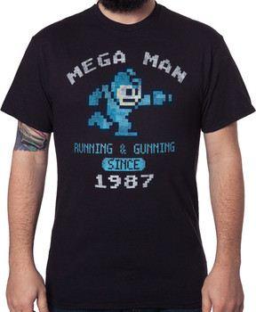 Black 1987 Mega Man T-Shirt