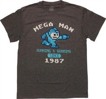 Capcom Mega Man Running and Gunning Since 1987 T-Shirt