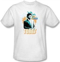 Miami Vice T-shirt Ricardo Tubbs Adult White Tee Shirt