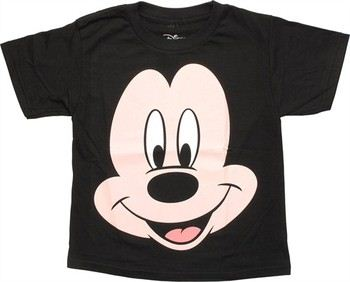 ... Disney Mickey Mouse Big Face Juvenile T-Shirt. ""
