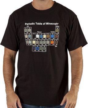 Periodic Table Minecraft Shirt