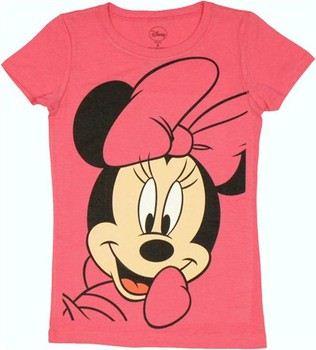 747e7c3091 ... Disney Minnie Mouse Big Face Youth Girls T-Shirt