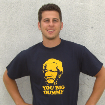 Adult Men/'s Sitcom Comedy Sanford And Son You Big Dummy Navy Blue T-Shirt Tee