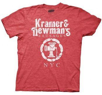 Seinfeld Kramer & Newmans Sausages Heather Red Mens T-Shirt