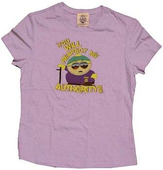 e4b44eba ... South Park Cartman Respect My Authority Babydoll Tee