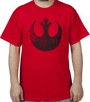 Red Distressed Rebel Star Wars T-Shirt