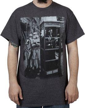 Gray Star Wars Payphone Darth Vader Shirt