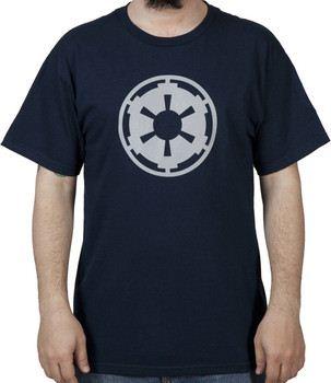 Navy Empire Logo Star Wars Shirt