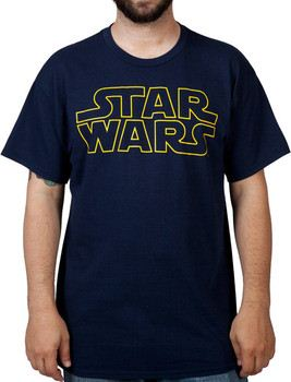Navy Star Wars Logo Shirt