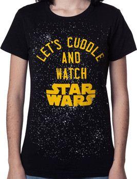 Ladies Cuddle and Watch Star Wars Shirt