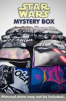 5 Count Mens Cut Star Wars T-Shirt Mystery Box