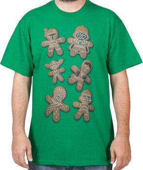 Gingerbread Star Wars Characters Shirt