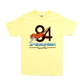 Step Brothers Dale's Spring Break 84 Tropical Blend Adult Yellow T-Shirt