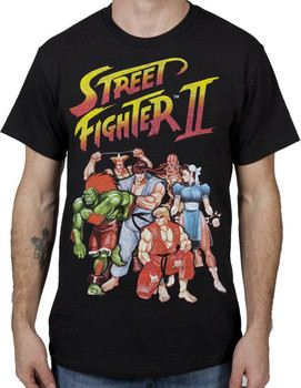 Street Fighter Ryu Pose Licensed Adult T Shirt