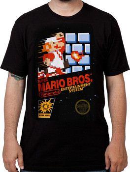 Cartridge Art Super Mario Brothers T-Shirt