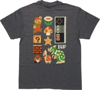 Nintendo Super Mario Bros Retro Set T-Shirt