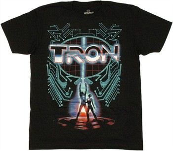 Tron Movie Poster T-Shirt Sheer