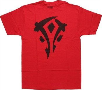 World of Warcraft Mists of Pandaria Horde Logo Red T-Shirt