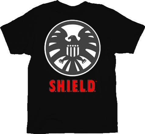 Iron Man Agent of Shield Black Adult T-shirt