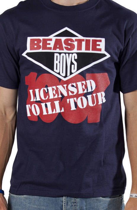 87 Licensed To Ill Tour Beastie Boys T-Shirt