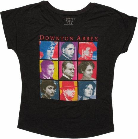 Downton Abbey Art Grid Ladies Tee