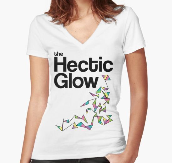 'The Hectic Glow - John Green T-Shirt [Colour]' Women's Fitted V-Neck T-Shirt by J M T-Shirt