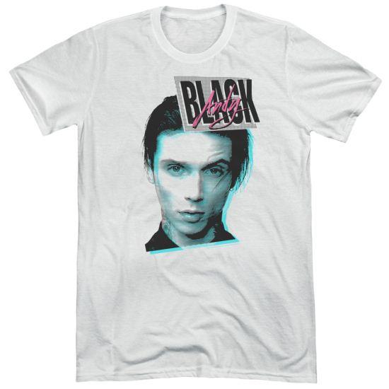 Andy Black Shirt Raised Eyebrow White Tri Blend T-Shirt