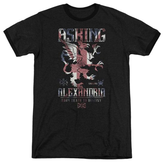 Asking Alexandria From Death To Destiny Black Ringer Shirt