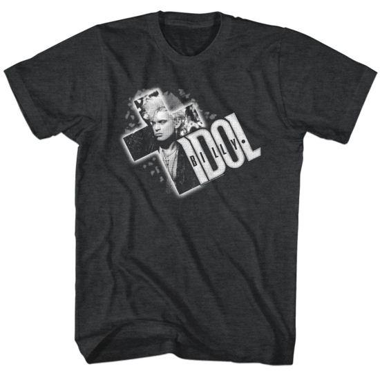 Billy Idol Shirt Cross It Out Black Tee T-Shirt