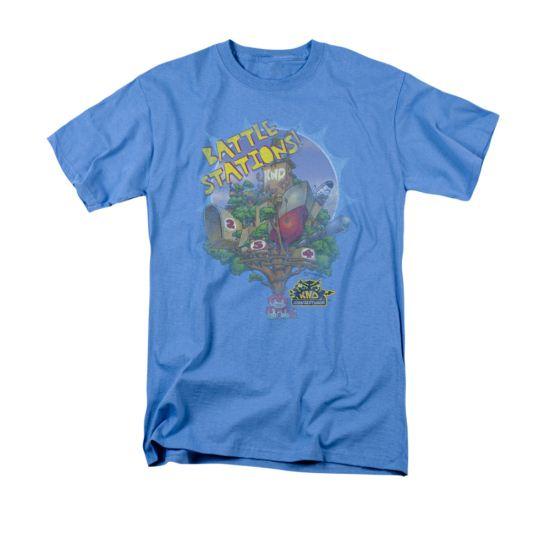 Codename Kids Next Door Shirt Battle Stations Adult Carolina Blue Tee T-Shirt