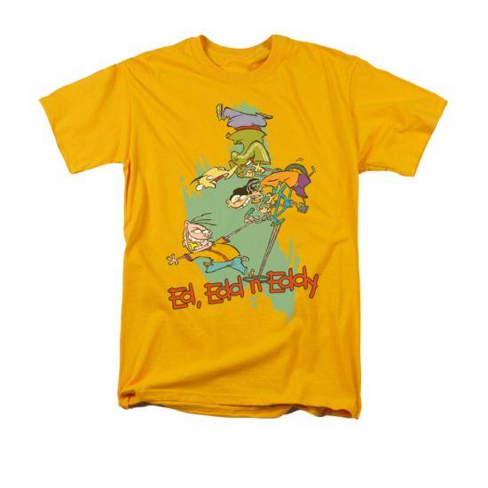 Ed, Edd N Eddy Shirt Free Fall Adult Gold Tee T-Shirt