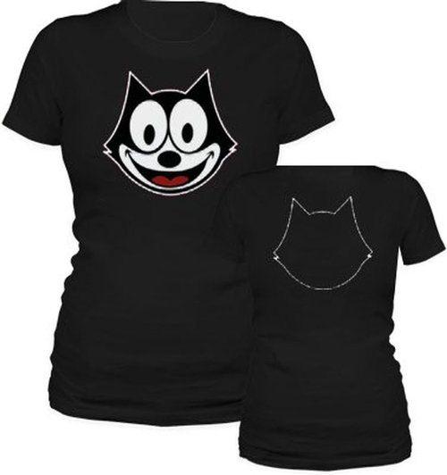 Felix the Cat Face Outline T-shirt