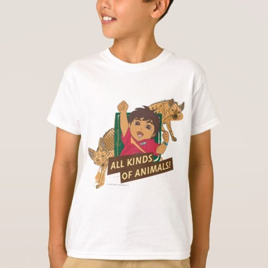 Go Diego Go! | All Kinds Of Animals T-Shirt