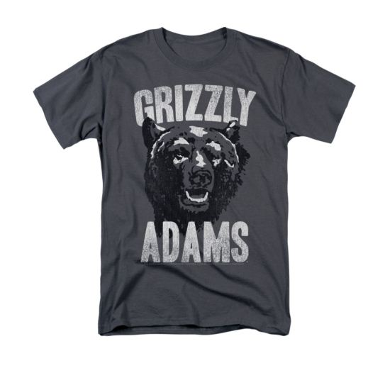 Grizzly Adams Shirt Distressed Bear Charcoal T-Shirt
