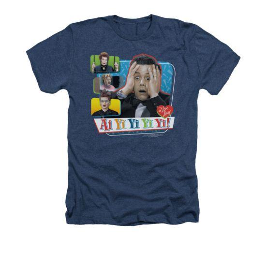 573e197c4 ... I Love Lucy Shirt Ai Yi Yi Yi Yi Adult Heather Navy Blue Tee T-