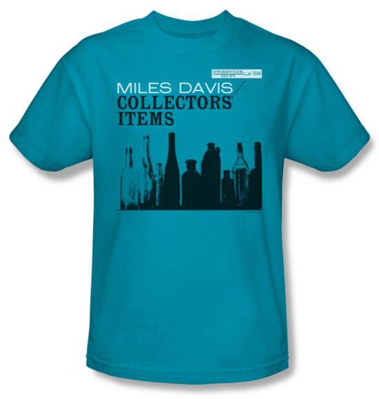 Miles Davis Shirt Collectors Items Adult Turquoise Tee T-Shirt