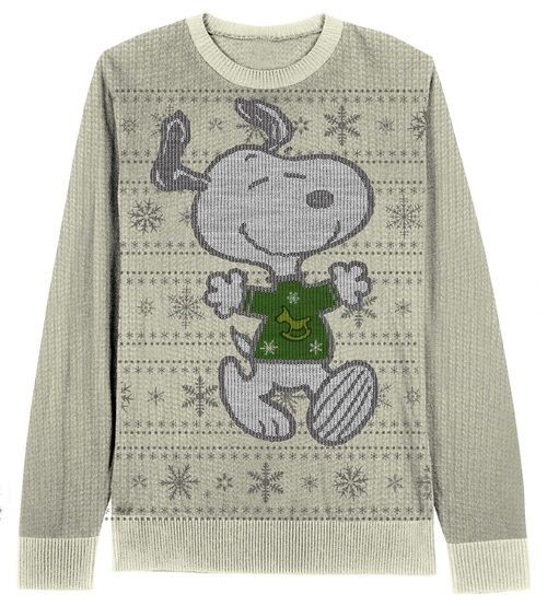 Peanuts Snoopy Snowflake Pattern Christmas Sweater