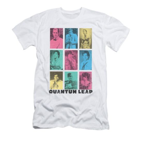 Quantum Leap Shirt Slim Fit Faces White T-Shirt